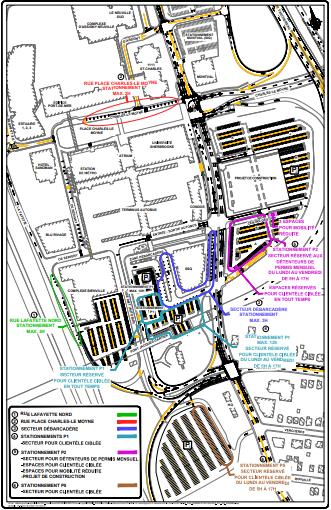 Carte du centre-ville de Longueuil